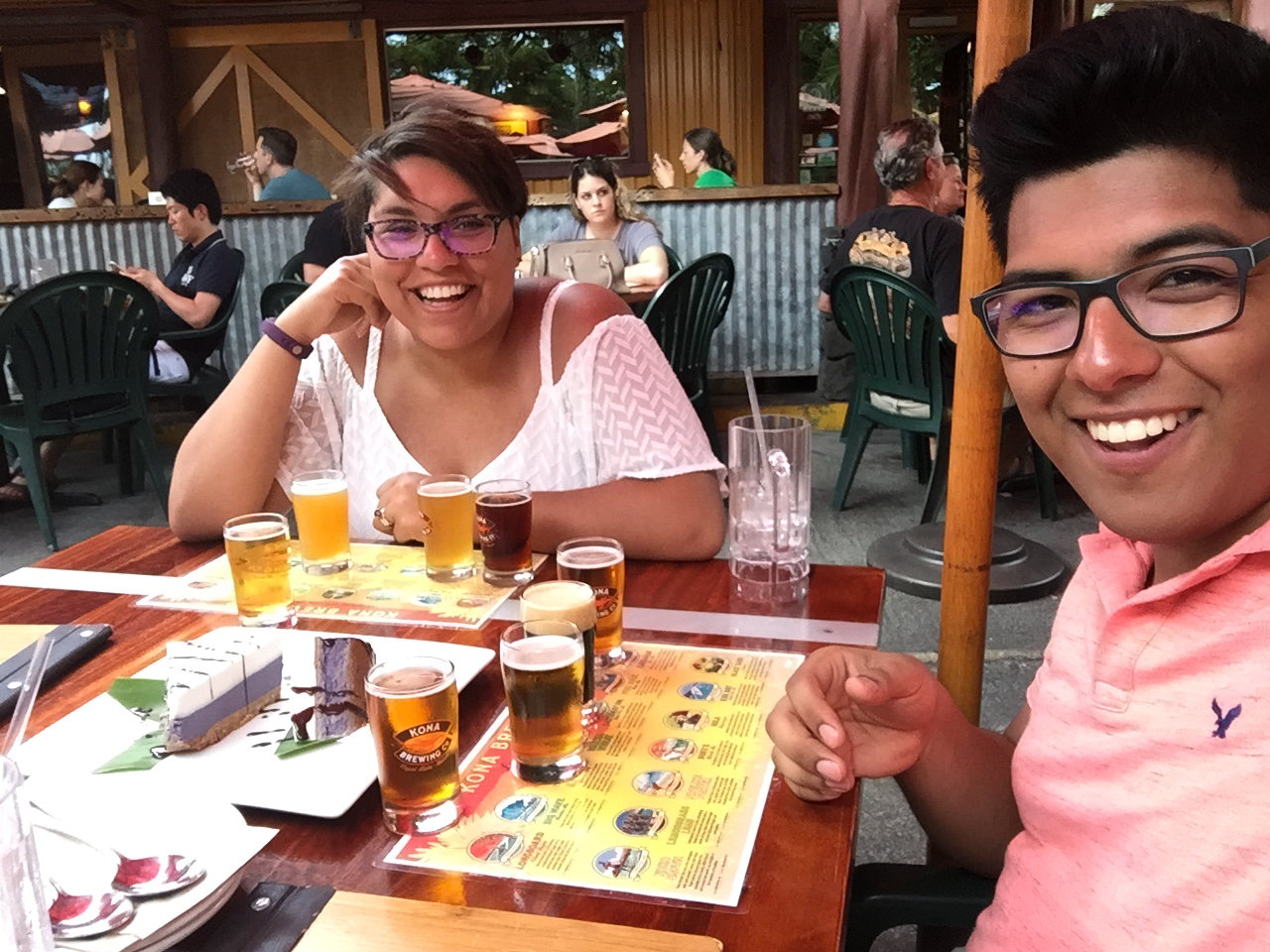 My wife and I laughing all the way to the bank - Kona Brewing Company, Kona, HI
