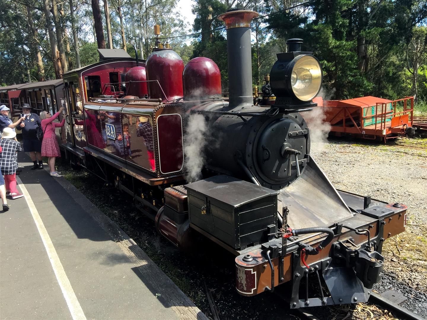 A series of trains are maintained and run for tourists by volunteers purely for its historical significance.