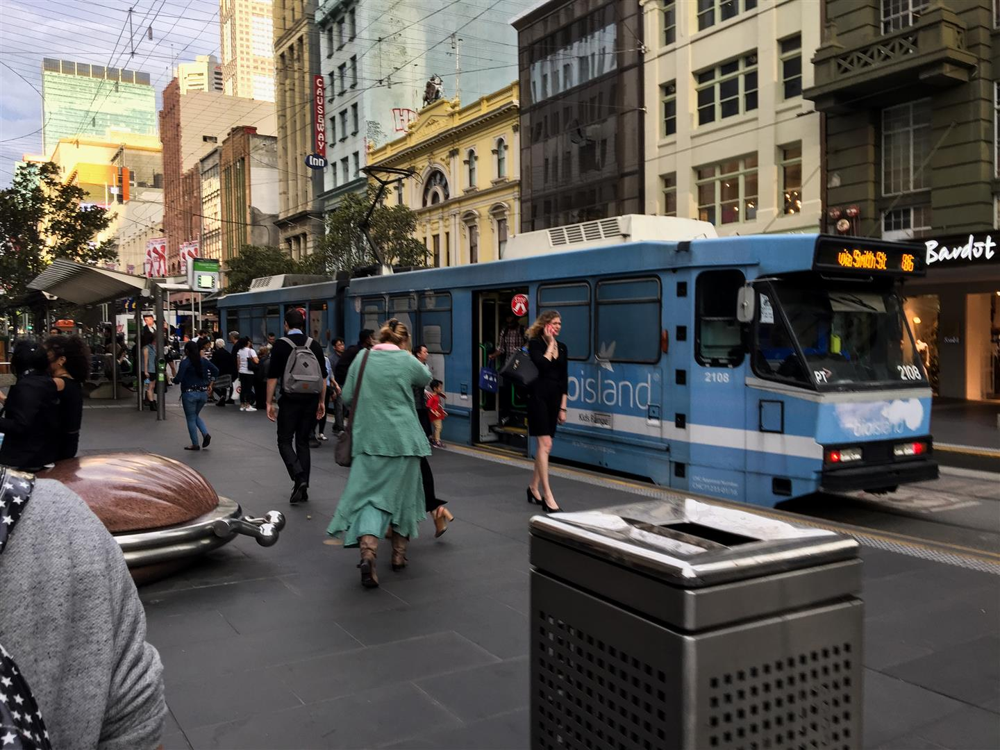 The rest of Melbourne's inter-free-zone trams are much more modern.