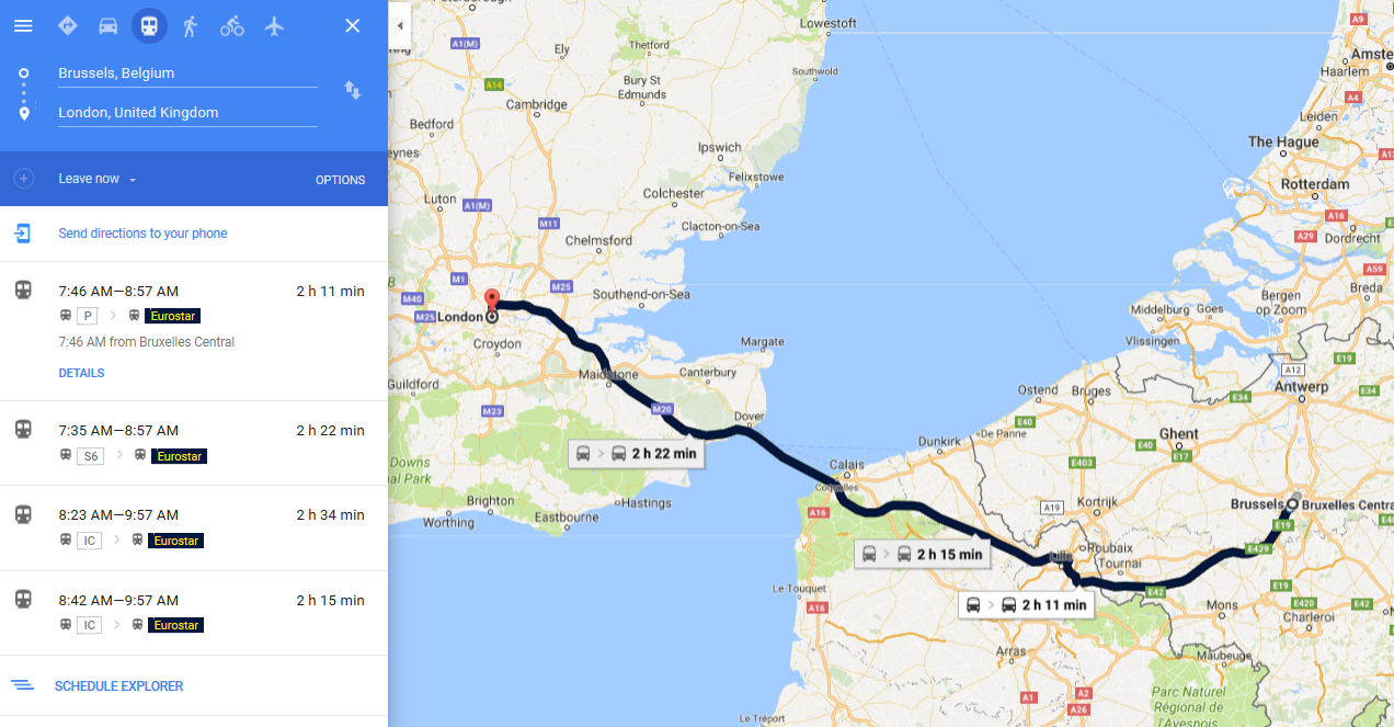 You can be a madlad like me and travel London-Paris-Brussels-London all by train!