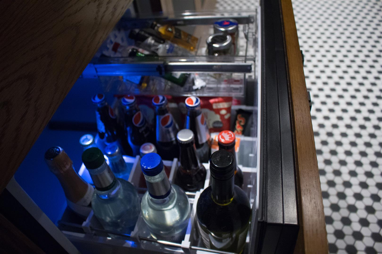 Next to the closets, you can satisfy most cravings and thirsts!