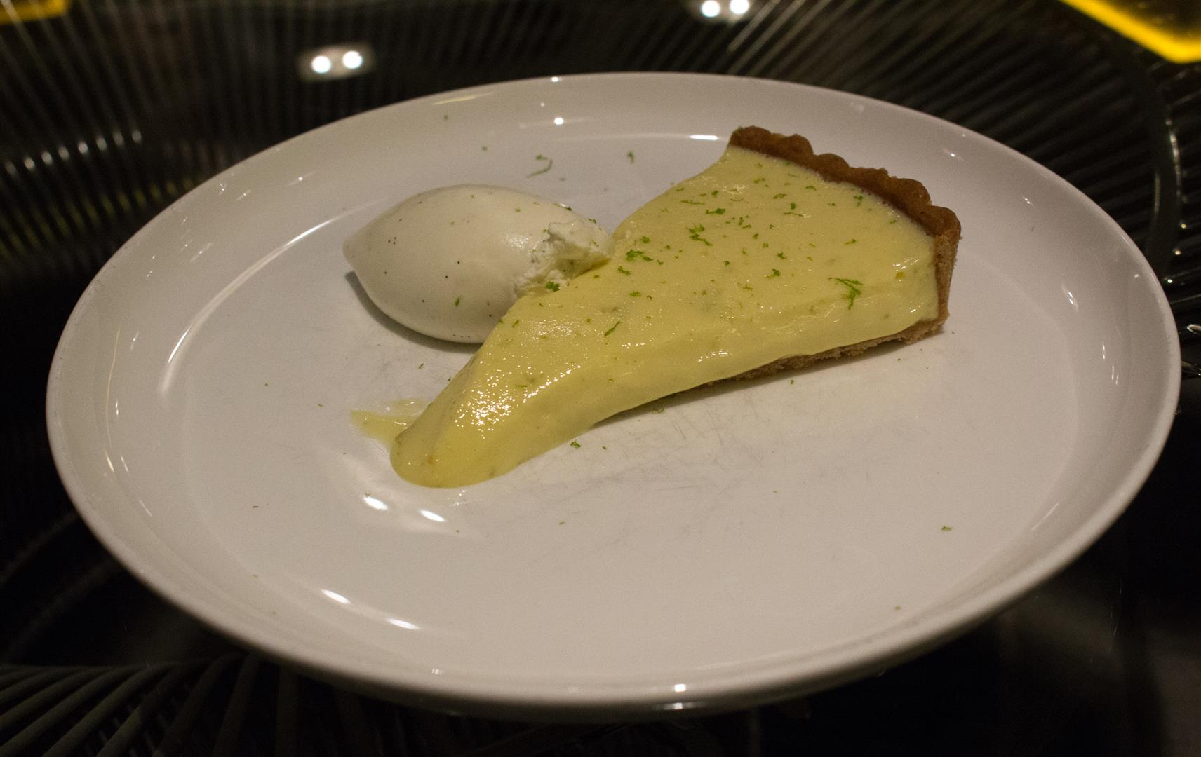 The Key Lime Tart - Sweet and definitely tart!