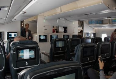 CX PE cabin on the A350-900, admittedly felt a little more 'open' compared to its Boeing counterpart