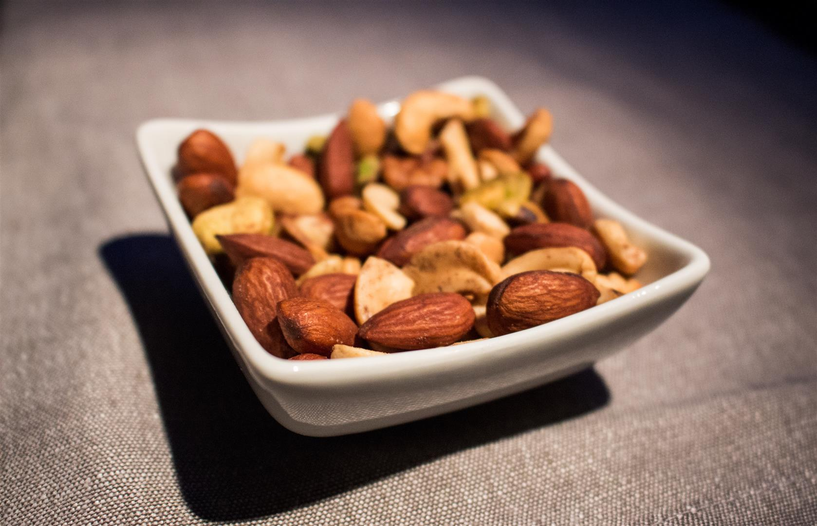 Salted Nuts are served warm, and I find they're a bit more tender that way.
