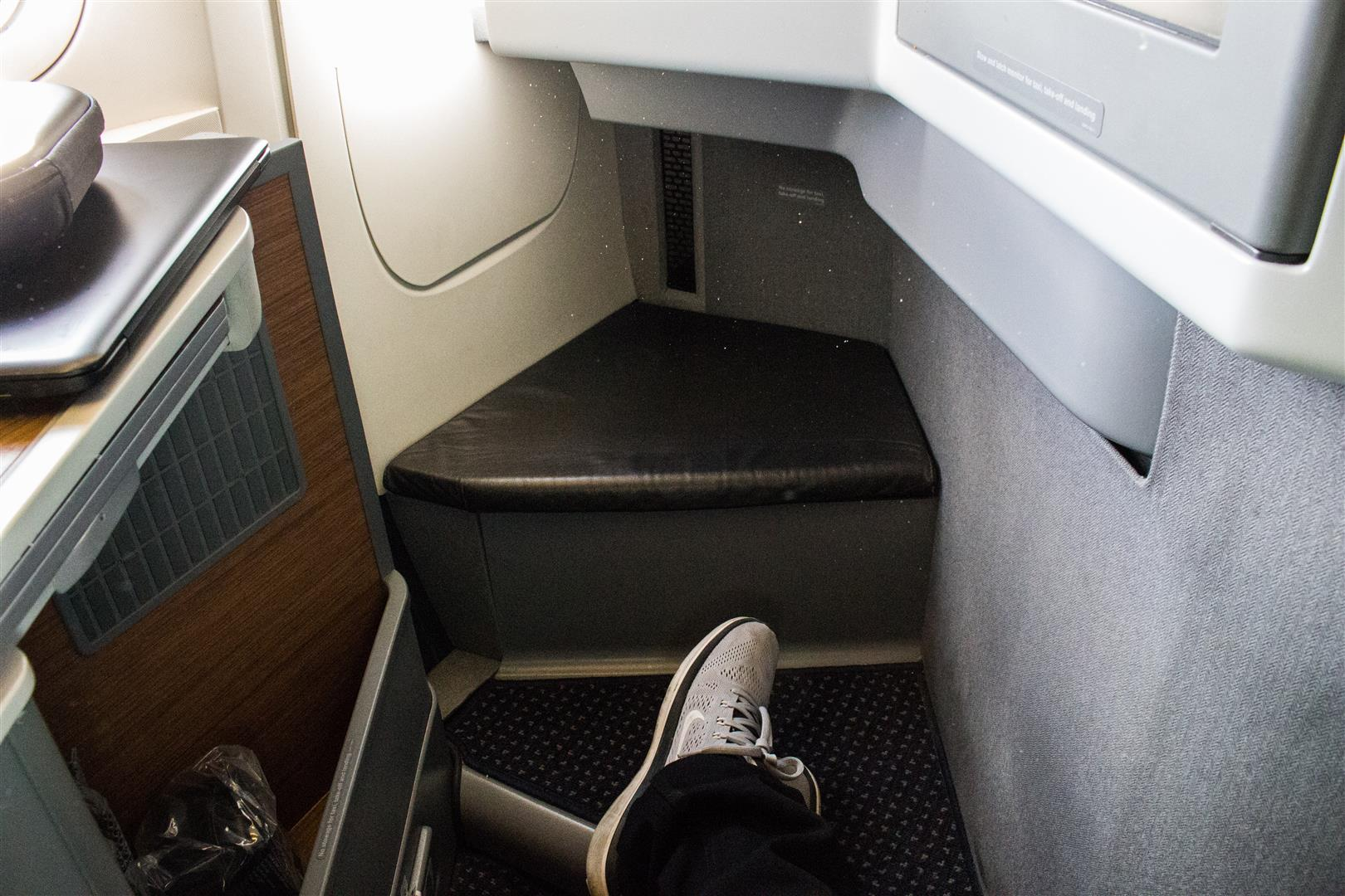 It goes without saying that Business Class almost has plenty of legroom.