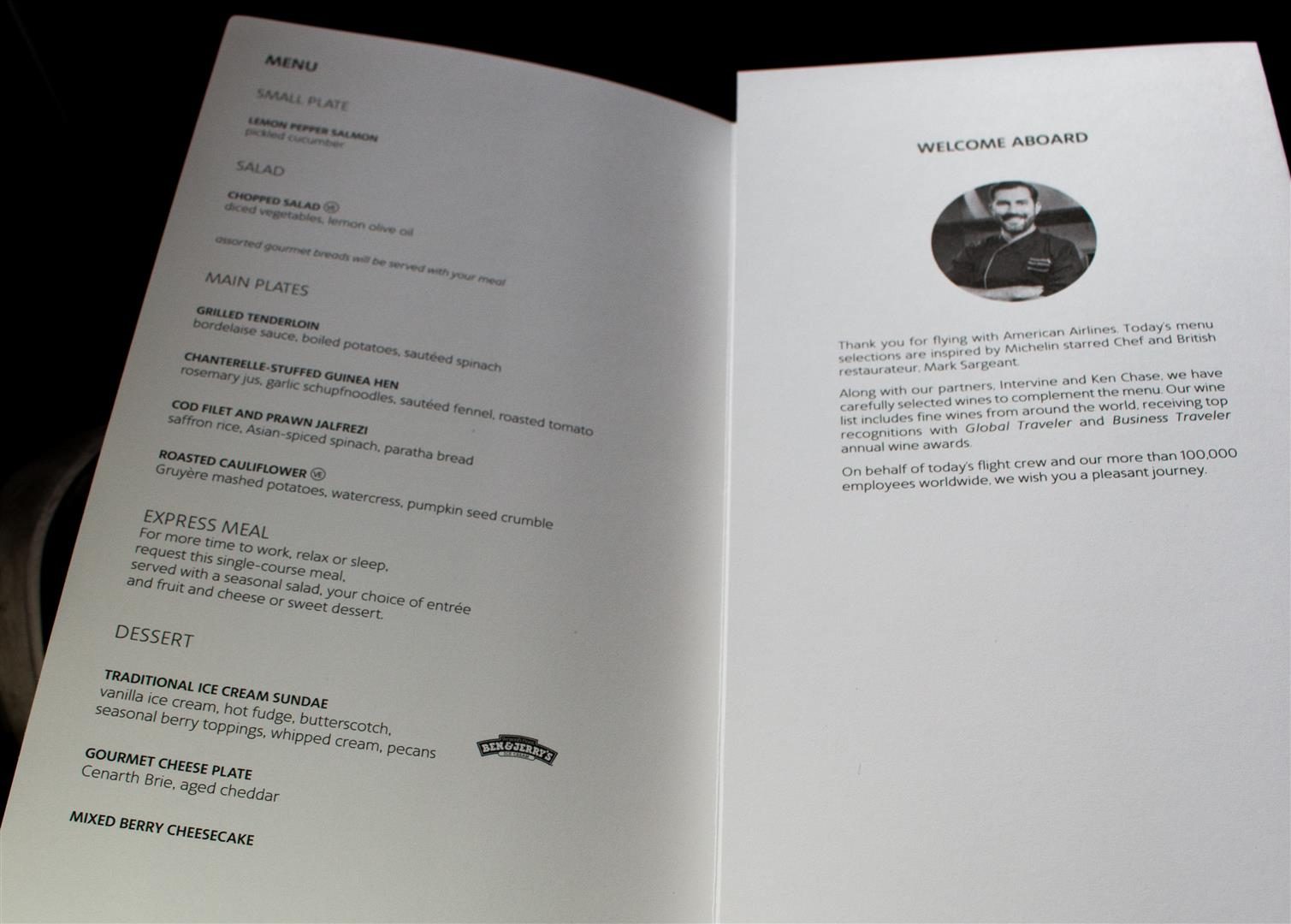 The Mark Sargeant-Inspired Menu!